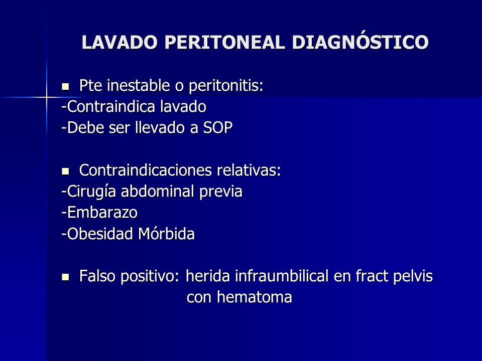 LAVADO PERITONEAL DIAGNÓSTICO