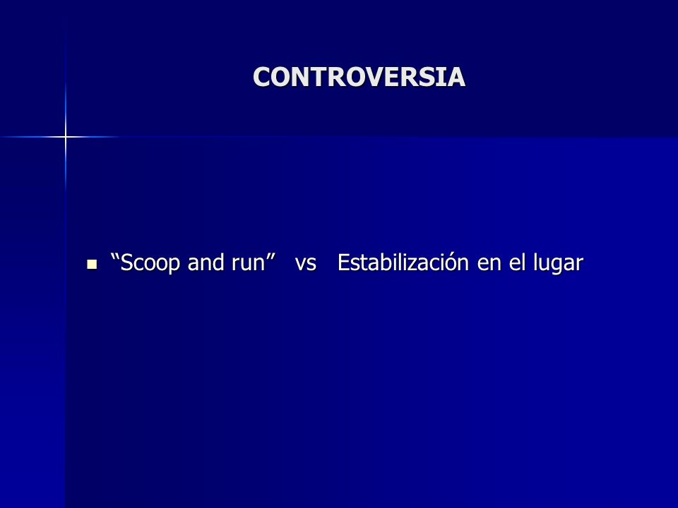 CONTROVERSIA Scoop and run vs Estabilización en el lugar