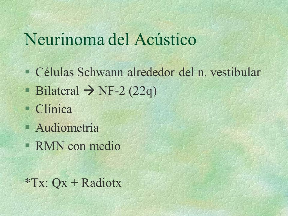 Neurinoma del Acústico