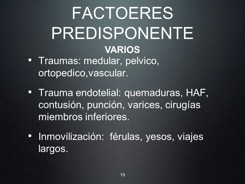 FACTOERES PREDISPONENTE