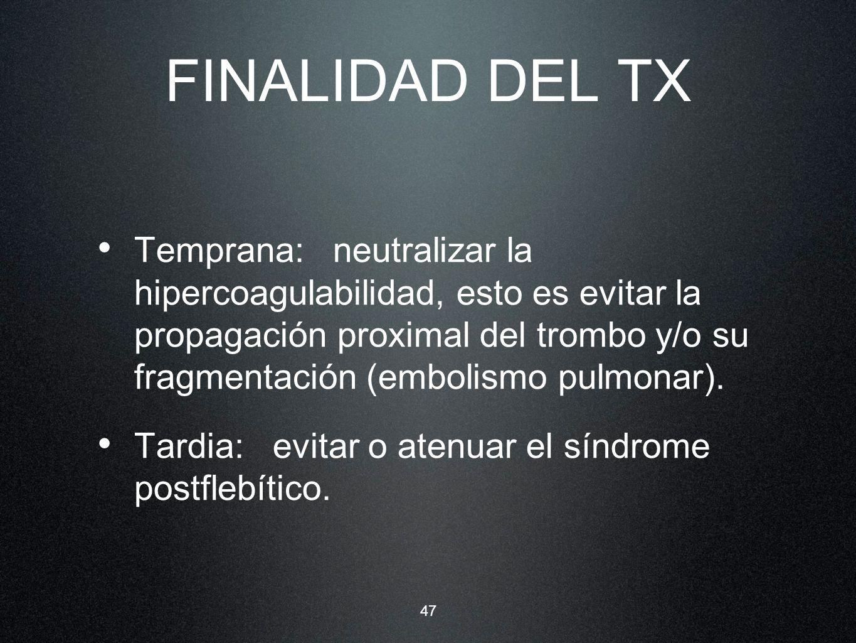FINALIDAD DEL TX