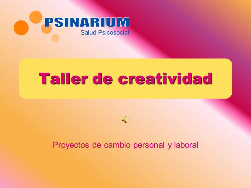 Proyectos de cambio personal y laboral