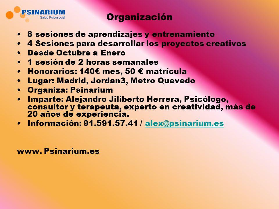 Organización 8 sesiones de aprendizajes y entrenamiento