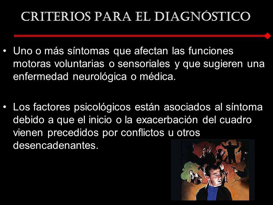 Criterios para el diagnóstico