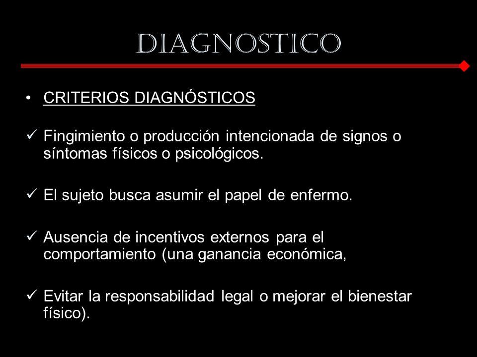 DIAGNOSTICO CRITERIOS DIAGNÓSTICOS