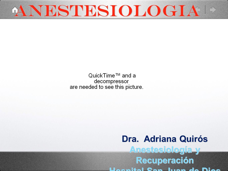 Anestesiología y Recuperación Hospital San Juan de Dios