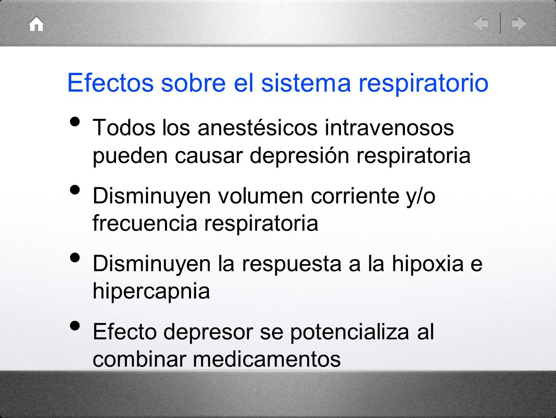Efectos sobre el sistema respiratorio
