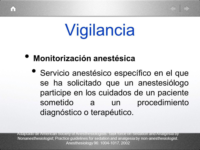 Vigilancia Monitorización anestésica