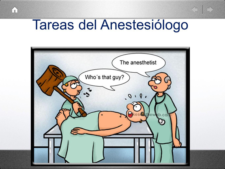 Tareas del Anestesiólogo