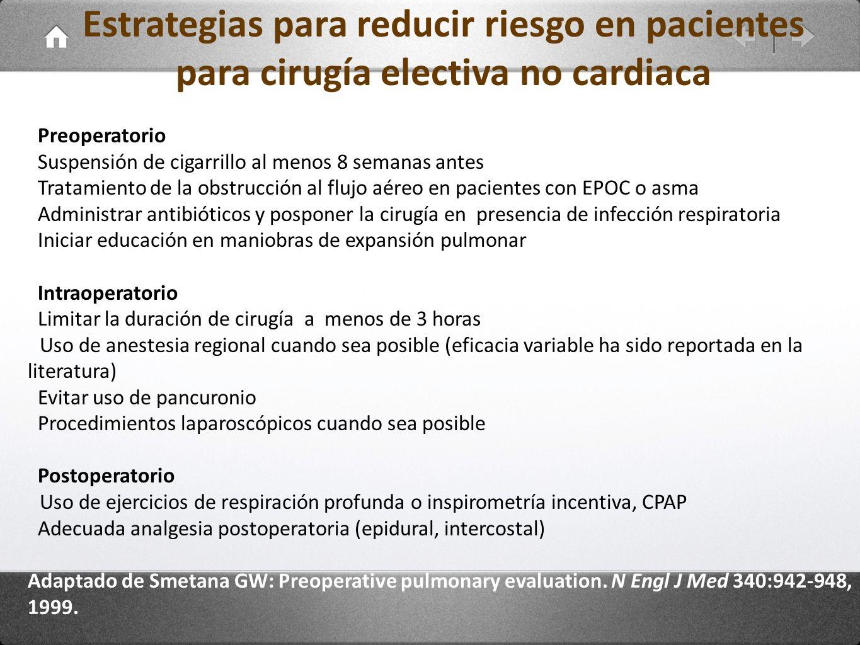 Estrategias para reducir riesgo en pacientes