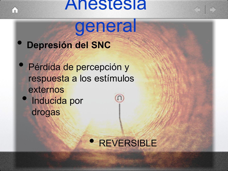 Anestesia general Depresión del SNC