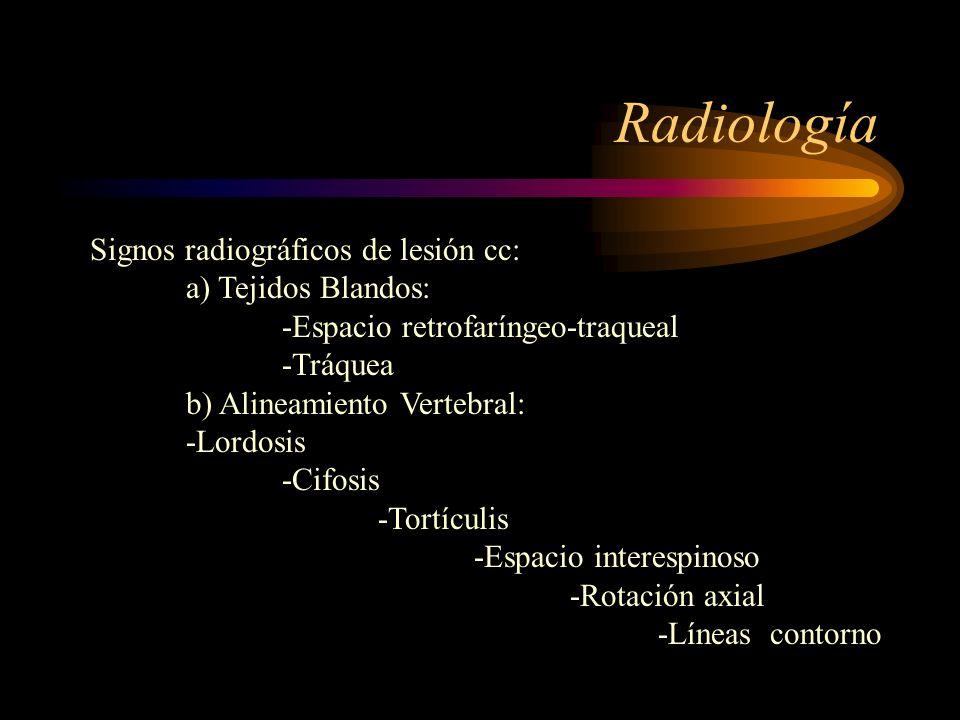 Radiología Signos radiográficos de lesión cc: a) Tejidos Blandos: