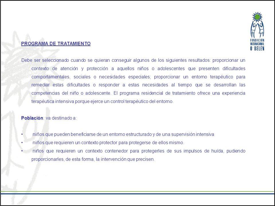 PROGRAMA DE TRATAMIENTO