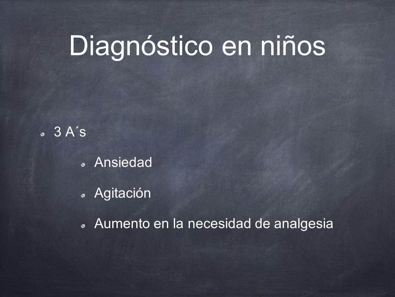 Diagnóstico en niños 3 A´s Ansiedad Agitación