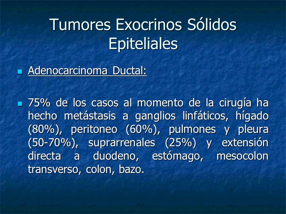 Tumores Exocrinos Sólidos Epiteliales