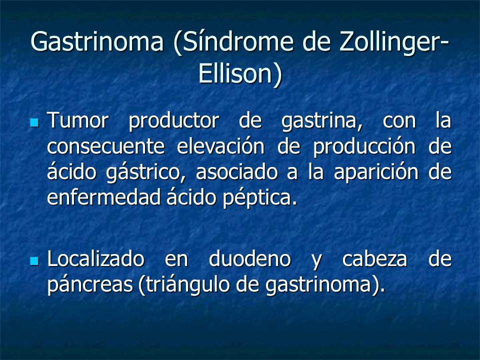 Gastrinoma (Síndrome de Zollinger-Ellison)