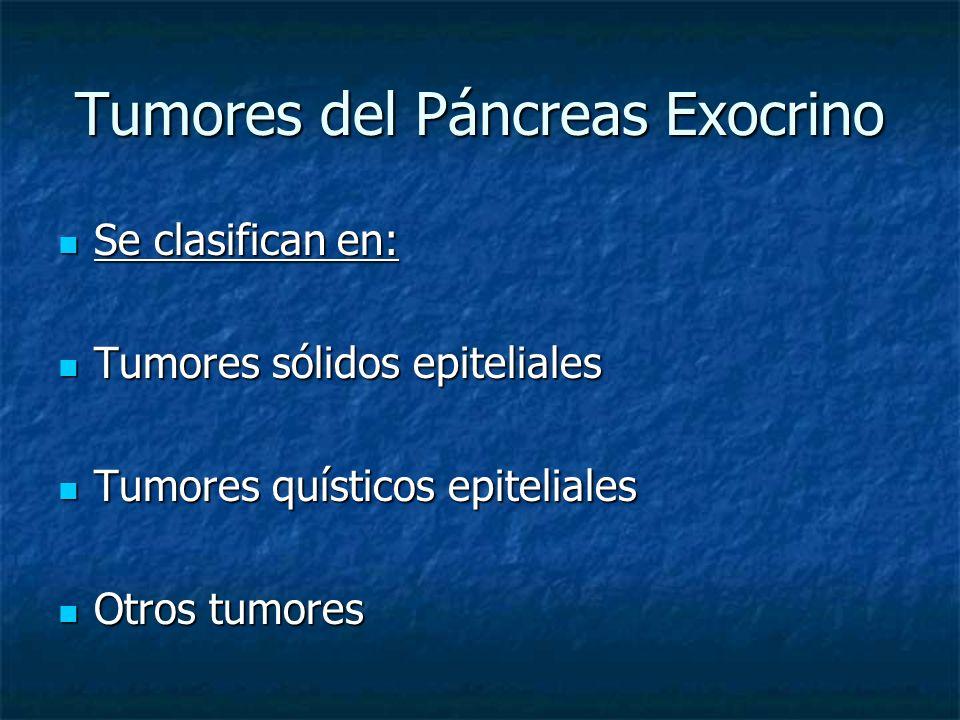 Tumores del Páncreas Exocrino