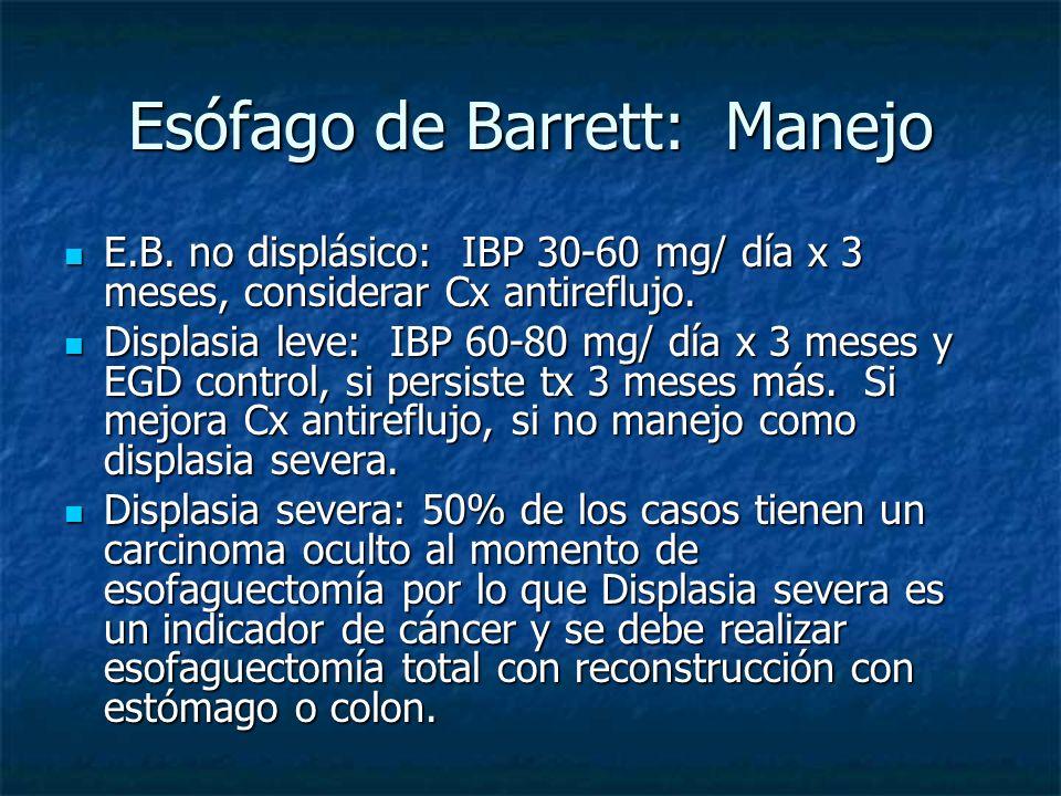 Esófago de Barrett: Manejo
