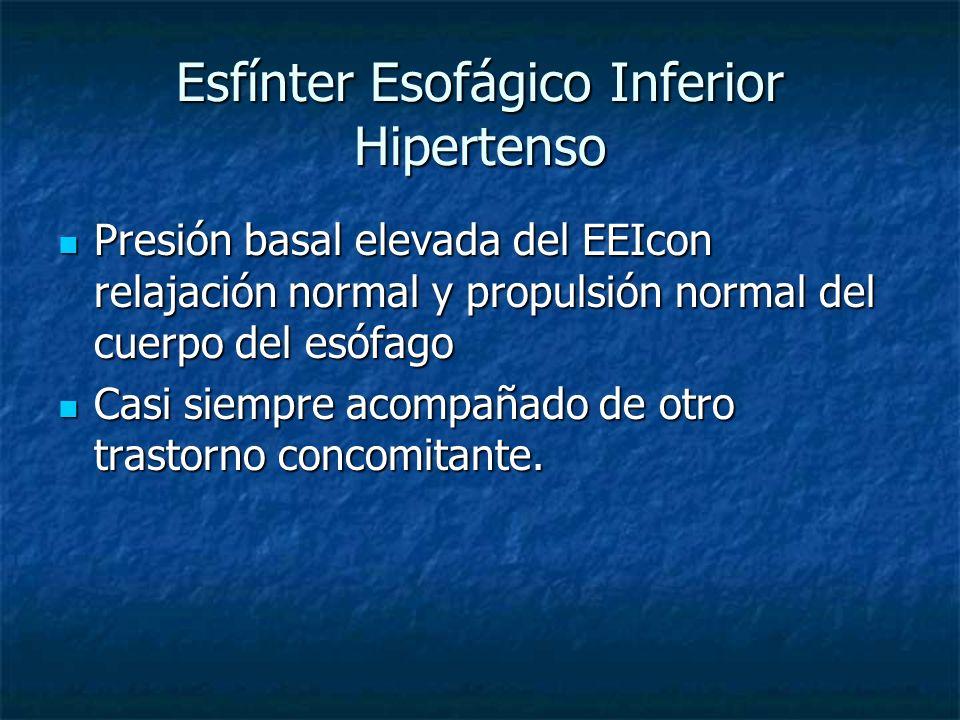 Esfínter Esofágico Inferior Hipertenso