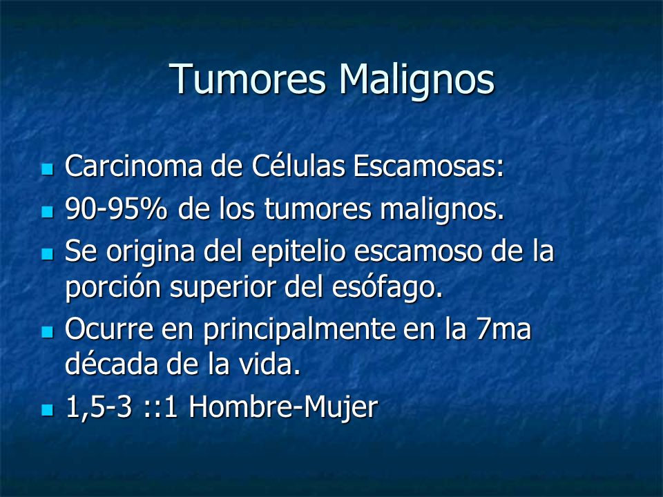 Tumores Malignos Carcinoma de Células Escamosas: