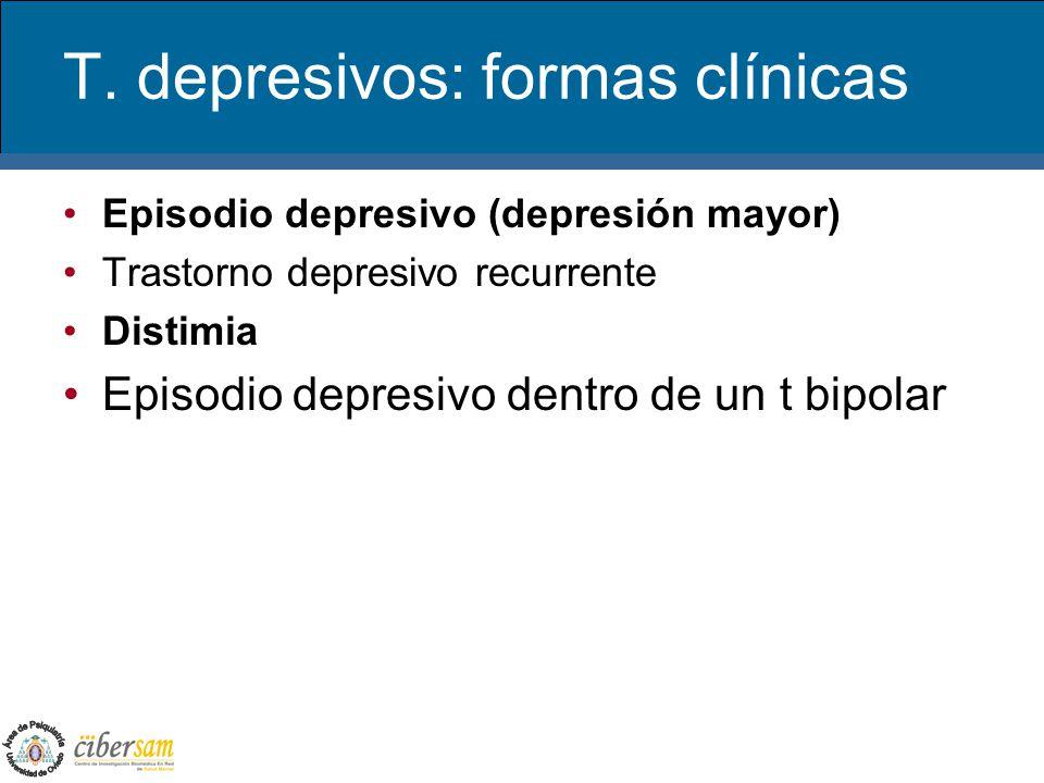 T. depresivos: formas clínicas