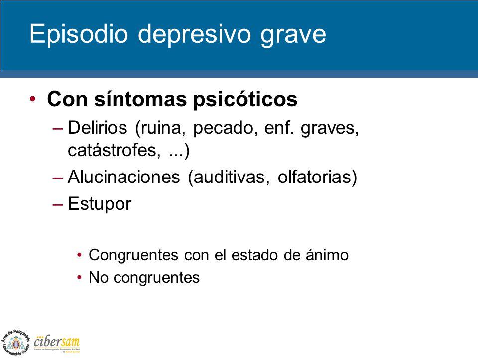 Episodio depresivo grave
