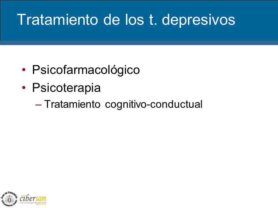 Tratamiento de los t. depresivos
