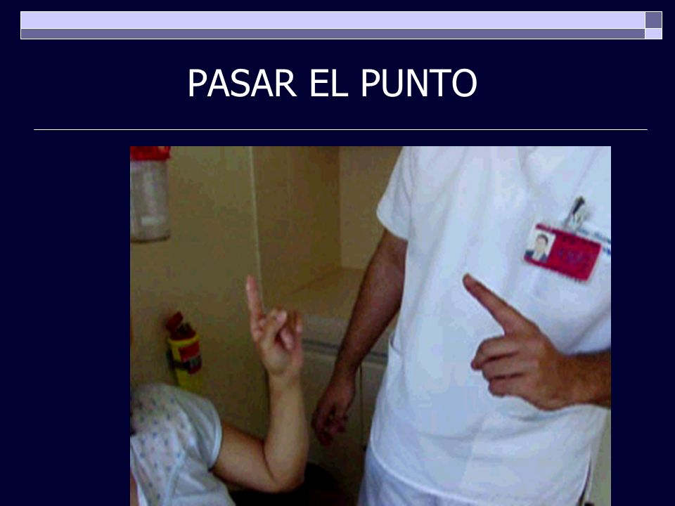PASAR EL PUNTO