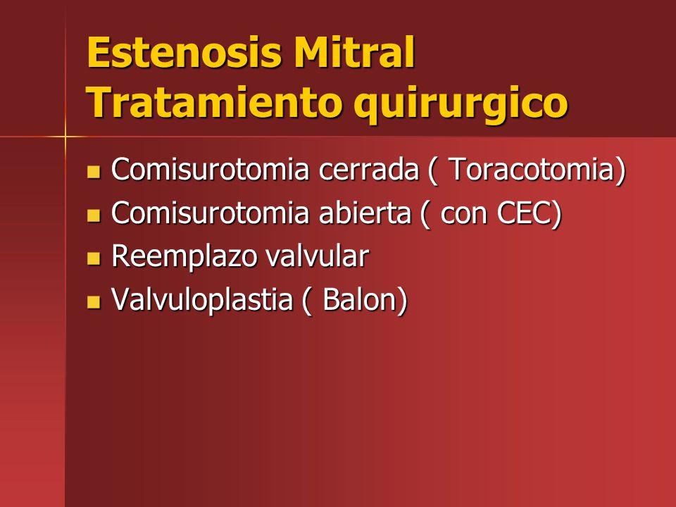 Estenosis Mitral Tratamiento quirurgico