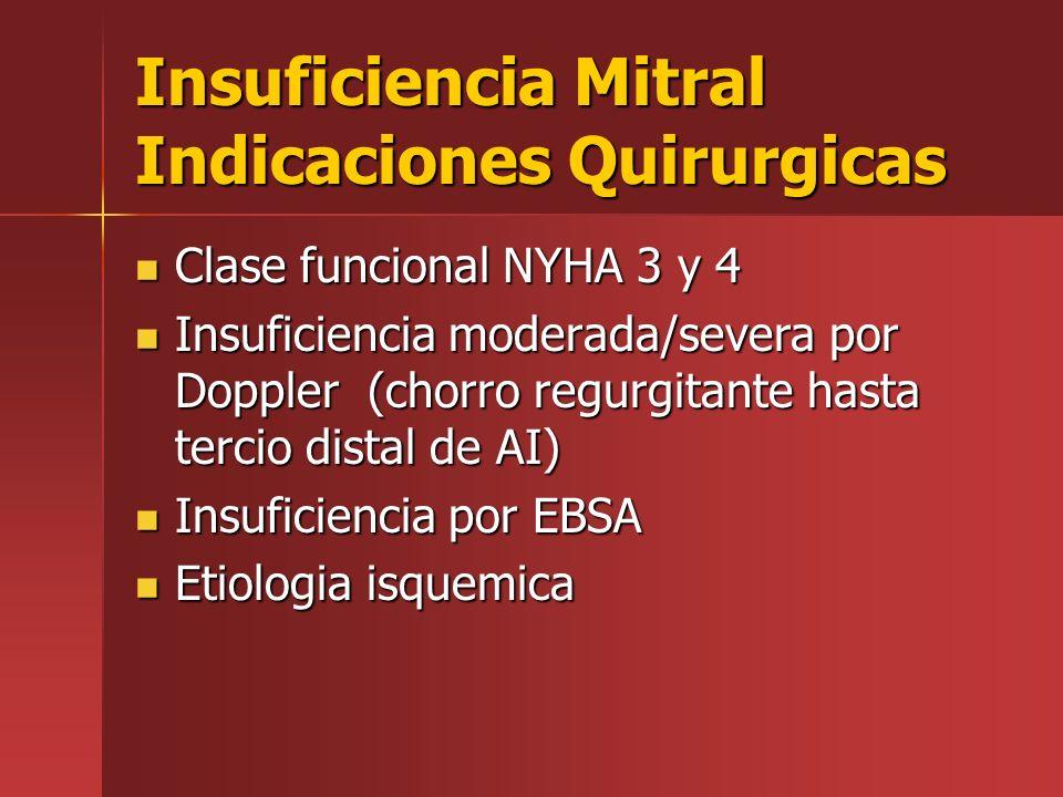 Insuficiencia Mitral Indicaciones Quirurgicas