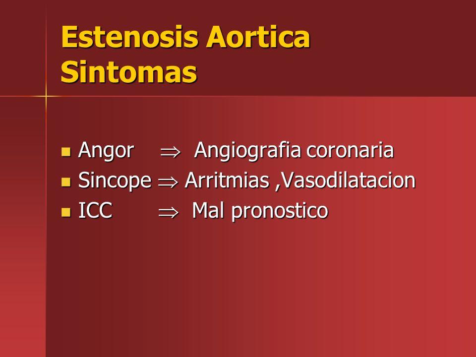 Estenosis Aortica Sintomas