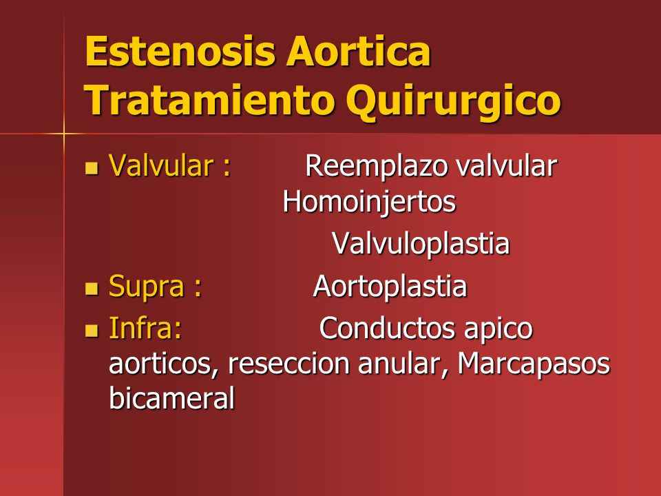 Estenosis Aortica Tratamiento Quirurgico