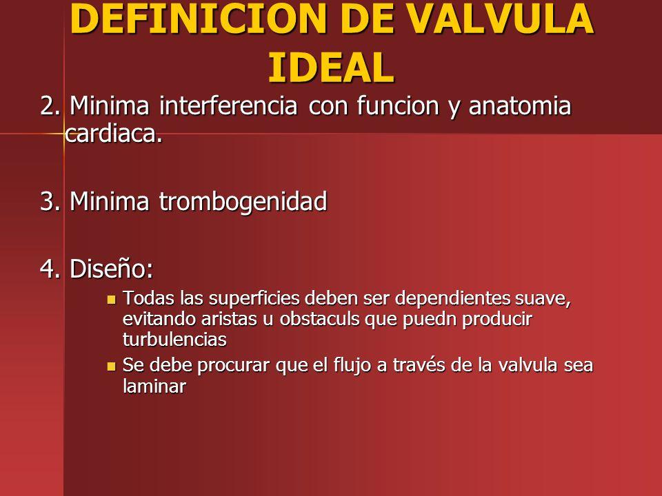 DEFINICION DE VALVULA IDEAL
