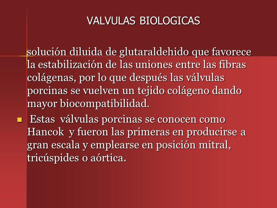VALVULAS BIOLOGICAS
