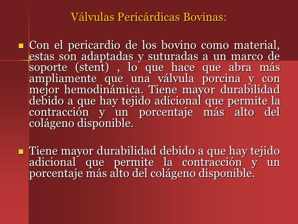 Válvulas Pericárdicas Bovinas: