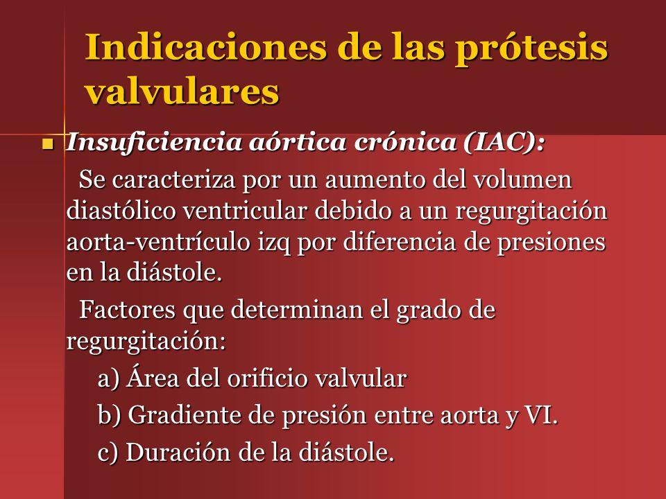 Indicaciones de las prótesis valvulares