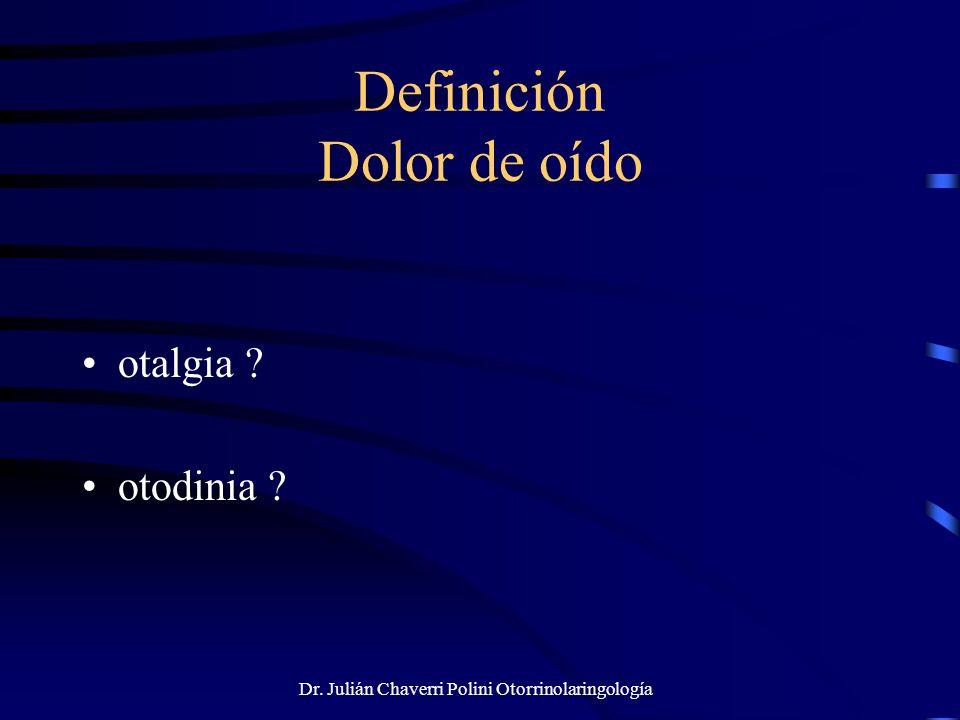 Definición Dolor de oído