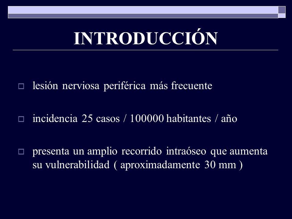 INTRODUCCIÓN lesión nerviosa periférica más frecuente