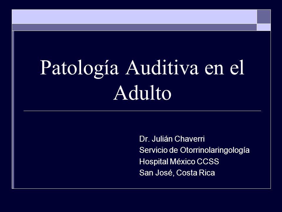 Patología Auditiva en el Adulto