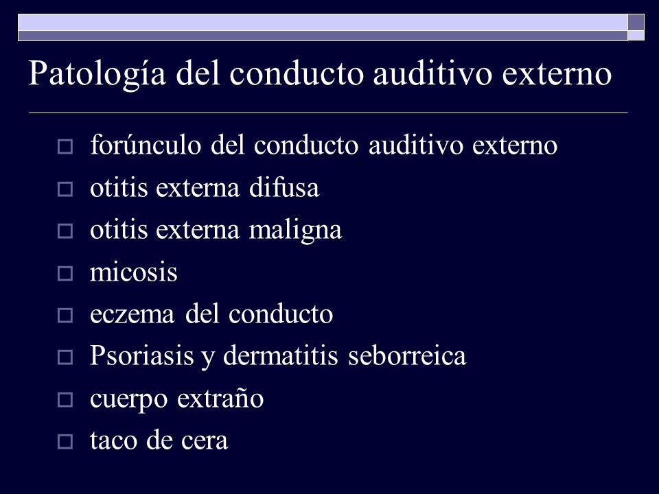 Patología del conducto auditivo externo