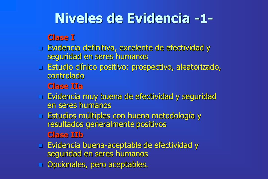 Niveles de Evidencia -1-