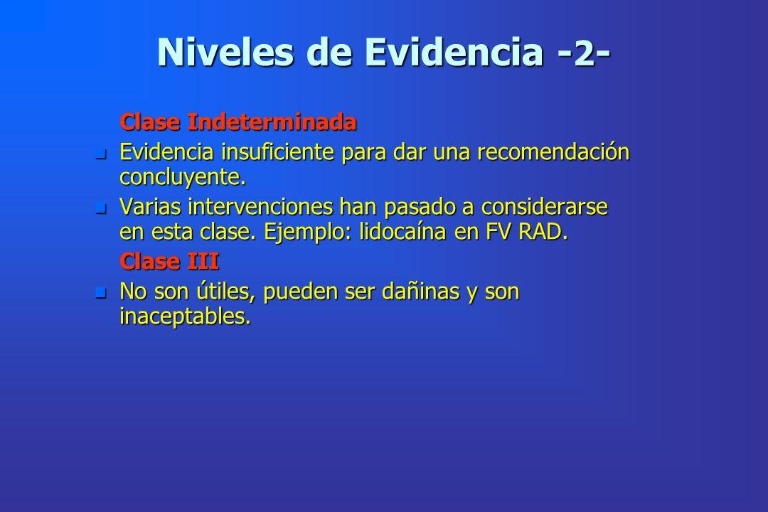 Niveles de Evidencia -2-