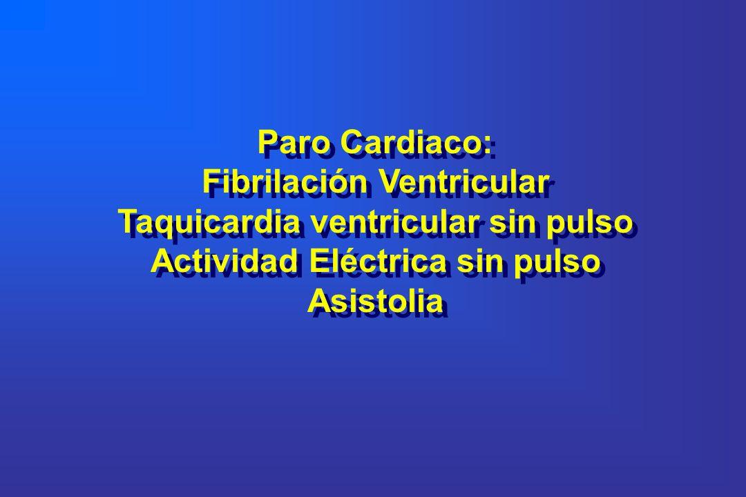 Fibrilación Ventricular Taquicardia ventricular sin pulso