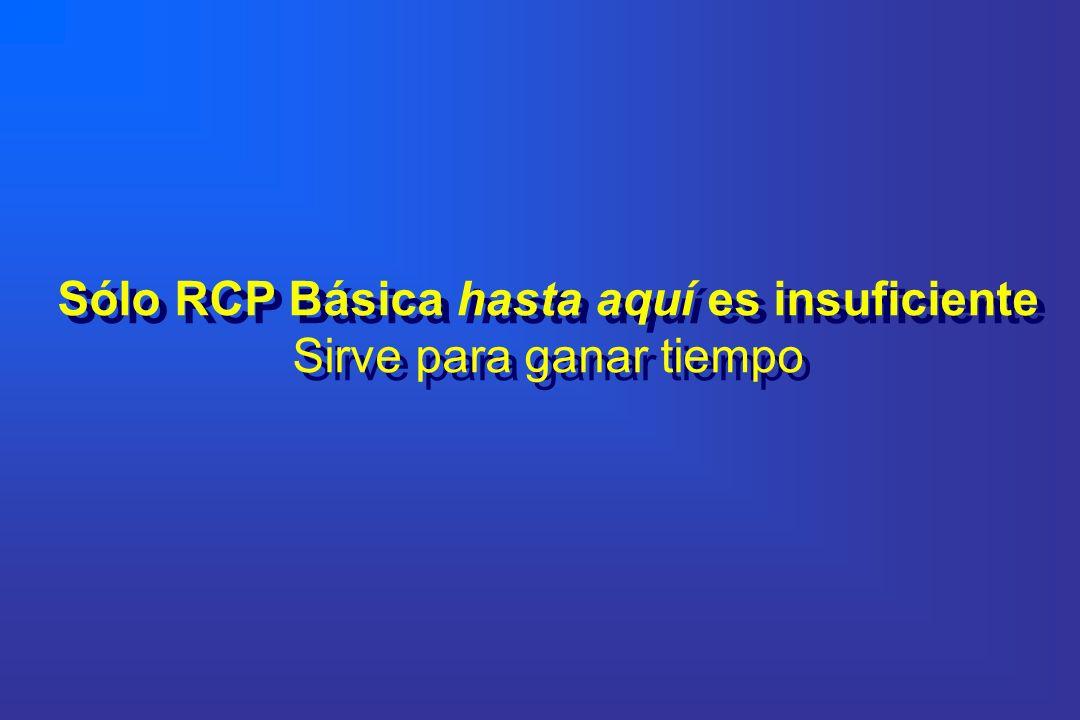 Sólo RCP Básica hasta aquí es insuficiente