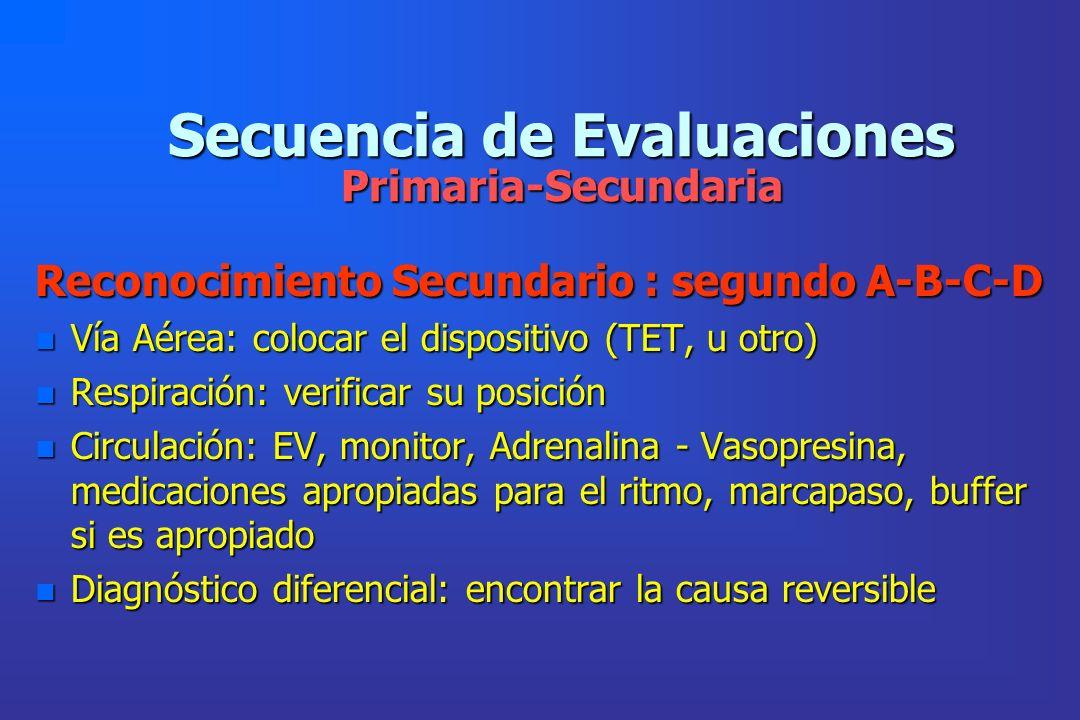 Secuencia de Evaluaciones Primaria-Secundaria