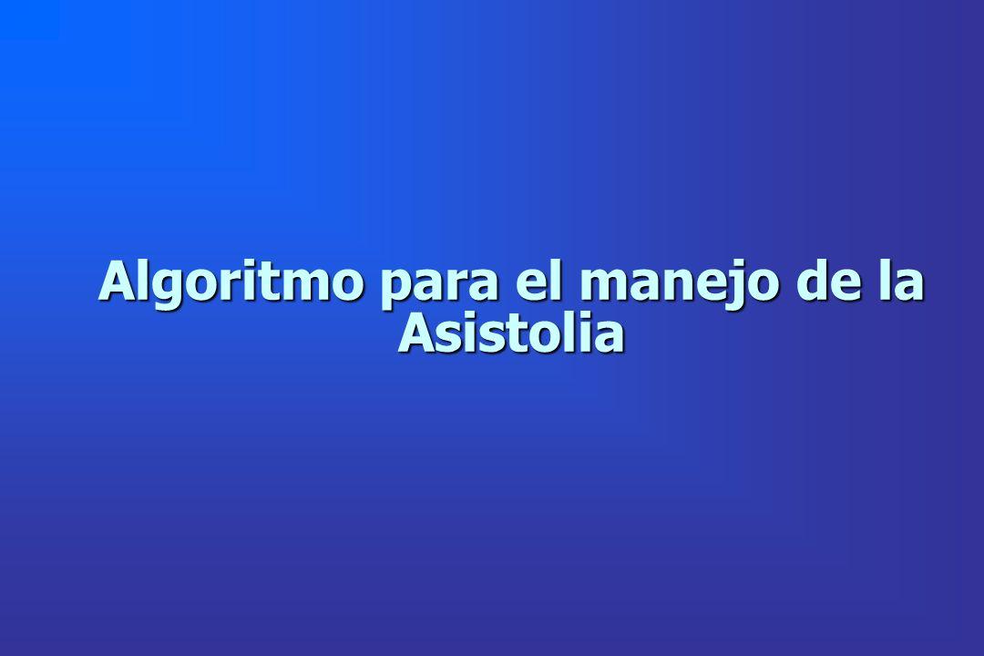 Algoritmo para el manejo de la Asistolia