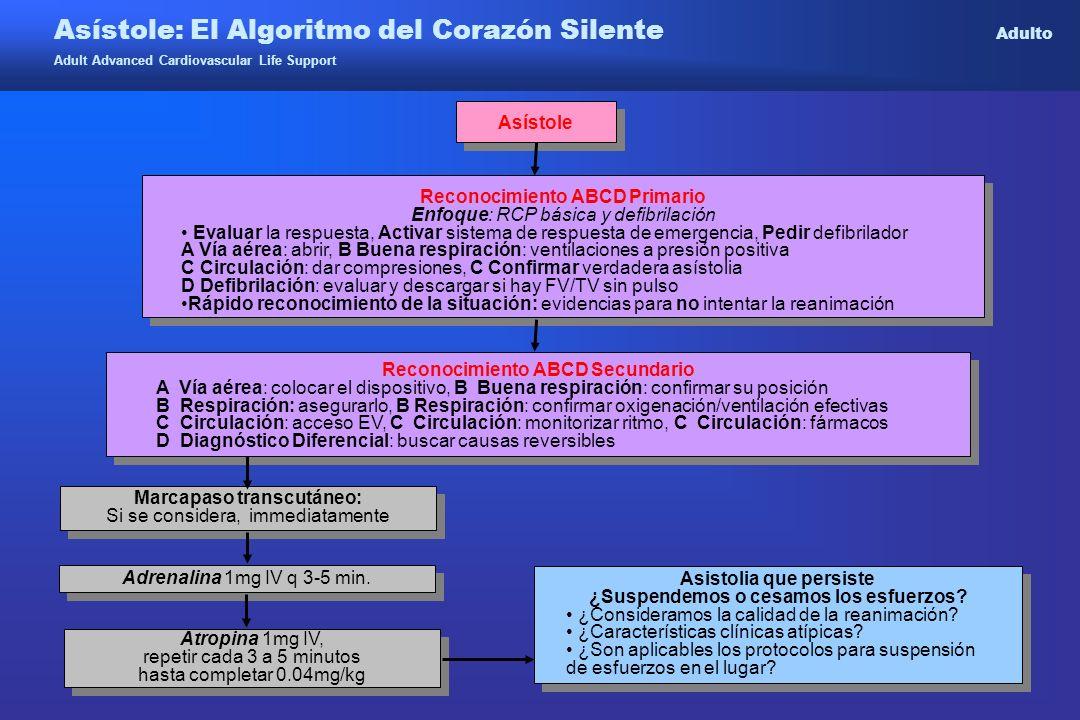 Asístole: El Algoritmo del Corazón Silente Adulto