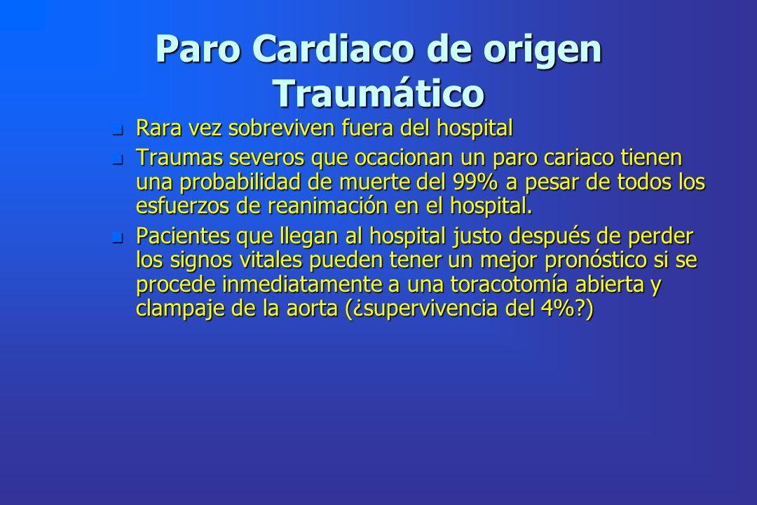 Paro Cardiaco de origen Traumático