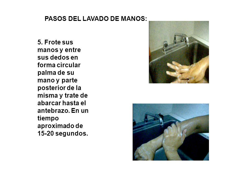 PASOS DEL LAVADO DE MANOS: