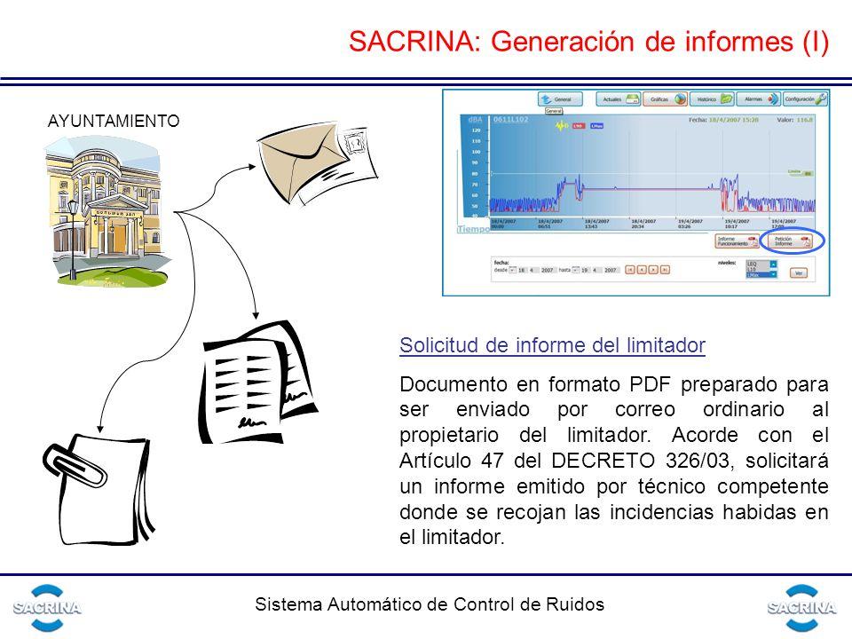 SACRINA: Generación de informes (I)
